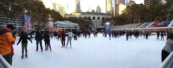 Ice Skating at Winter Village in Bryant Park, NYC